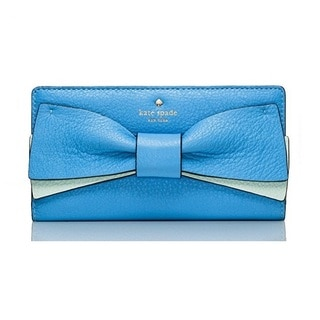 Kate Spade Eden Lane Bow Stacy Alice Blue Bifold Wallet