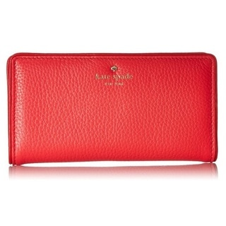 Kate Spade Cobble Hill Stacy Crab Red/Parrot Feather Wallet