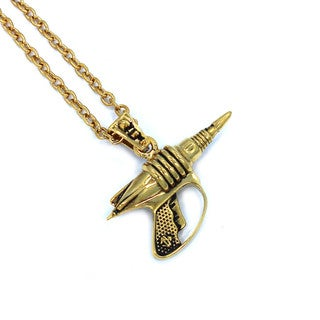 Han Cholo Star Wars Gold-tone Stainless Steel Blaster Pendant
