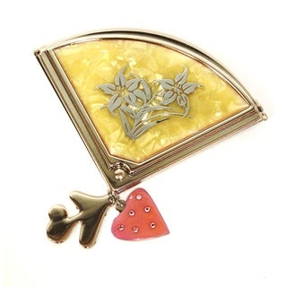Fan with Charms Compact Mirror