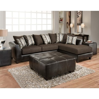 Sofa Trendz Dakota Sectional with Jumbo Ottoman