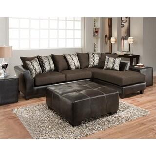 Sofa Trendz Dakota Sectional with Jumbo Ottoman