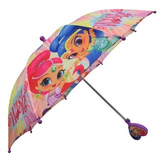 Nickelodeon 'Shimmer and Shine' Pink Polyester Umbrella With 3D Handle