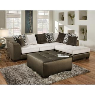 Sofa Trendz Dale Two Tone Sectional with Ottoman