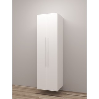 TidySquares Classic White Wood Storage Locker Design 1