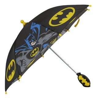 DC Comics Kid's Batman Black/Grey/Yellow Polyester Umbrella