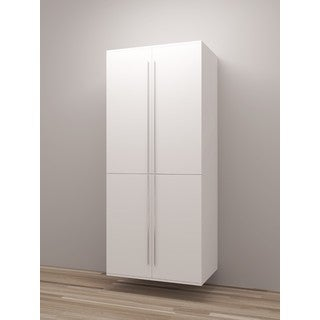 TidySquares Classic White Wood Locker Storage Design 3
