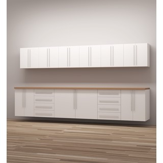 TidySquares Classic White Wood Workshop Storage Design 4