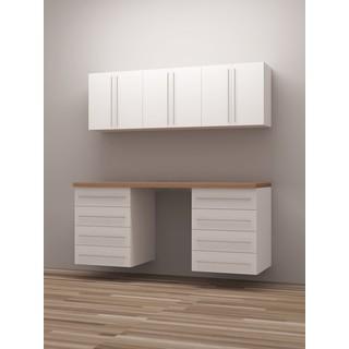 TidySquares Classic White Wood 6 Workshop Storage Design 4
