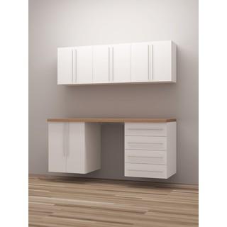 TidySquares Classic White Wood Workshop Storage Design 5