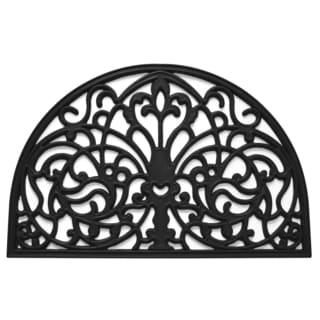 Florentine Black Rubber/Wrought Iron Floor Mat