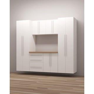 TidySquares Classic White Wood 8 Workshop Storage Design 3