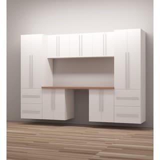 TidySquares Classic White Wood 10 Workshop Storage Design 1