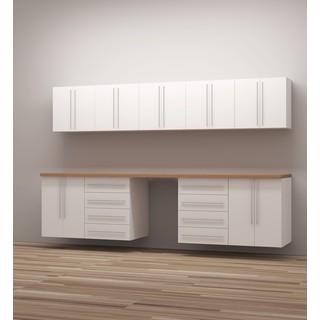 TidySquares Classic White Wood Workshop Storage Design 2