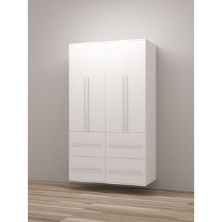 TidySquares Classic White Wood Locker Storage Design 6