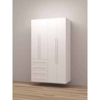 TidySquares Classic White Wood Locker Storage Design 4