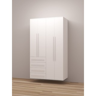TidySquares Classic White Wood Locker Storage Design 4