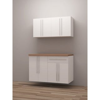 TidySquares Classic White Wood Workshop Storage Design 4