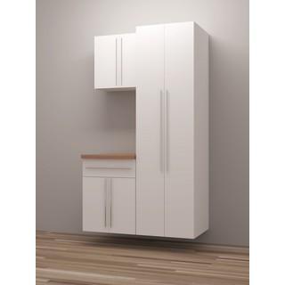 TidySquares Classic White Wood Workshop Storage Design 3