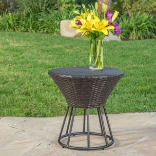 Crete Outdoor Wicker Side Table by Christopher Knight Home