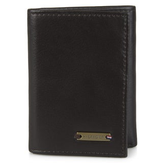 Tommy Hilfiger Men's Genuine Leather Trifold Wallet