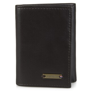 Tommy Hilfiger Men's Genuine Leather Trifold Wallet