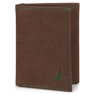 Nautica Men's Genuine Leather Trifold Wallet