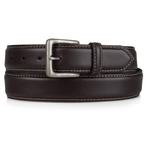 Timberland Men's Genune Leather Contrast Stitch Belt