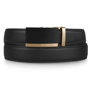 Vance Co. Men's Adjustable Genuine Leather Ratchet Belt