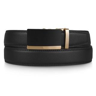 Vance Co. Men's Adjustable Genuine Leather Ratchet Belt