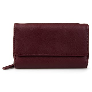 Mundi Women's Faux Leather Big Fat Clutch Wallet