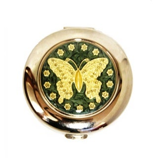 Classic Butterfly Oval Compact Mirror