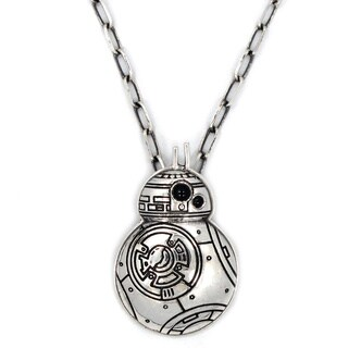 Hang Cholo Star Wars BB8 Stainless Steel Black Onyx Pendant