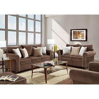 Sofa Trendz Bruce Fudge Sofa and Loveseat Set