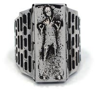 Han Cholo Men's Stainless Steel Han Solo in Carbonite Ring (Size 9)