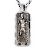 Han Cholo Stainless Steel Han Solo in Carbonite Pendant