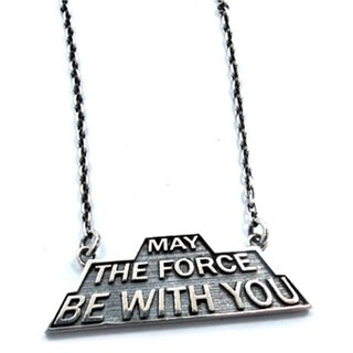 Han Cholo Star Wars Stainless Steel 'May The Force Be With You' Shadow Series Necklace