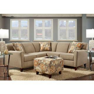Sofa Trendz Beckam Sectional with Ottoman Set