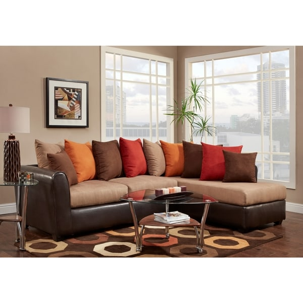 Sofa Trendz Bronx Two Tone Sectional