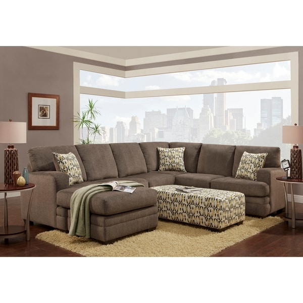 Shop Sofa Trendz Boston Sectional with Ottoman Set - Free Shipping ...