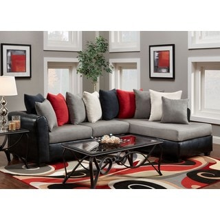 sofa trendz brinkley two tone sectional victory lane