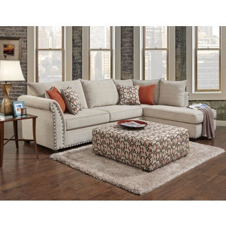 Sofa Trendz Bennington Sectional with Ottoman Set