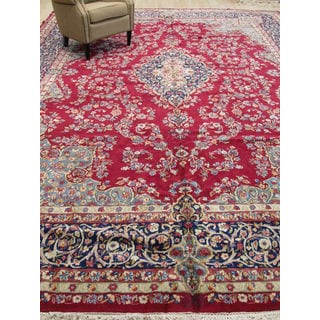 EORC Hand Knotted Wool Red Kerman Rug (11'5 x 16'2)