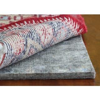JustPlush Supreme 1/2-inch Thick Cushioned Felt Rug Pad - Grey - 8' x 10'