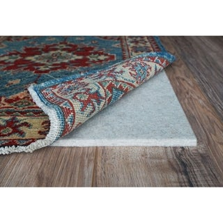 "Eco Plush 3/8"" Cushioned Felt Rug Pad, Safe for All Floors, by Rug Pad USA, 7x10"