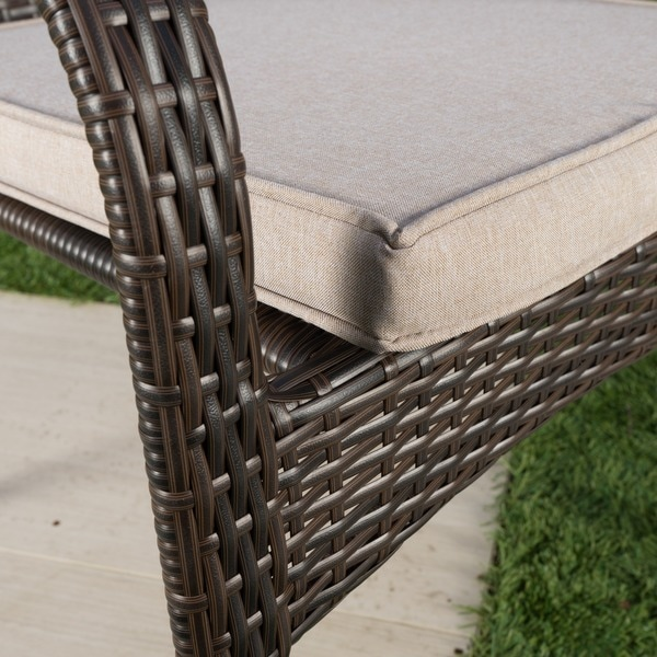 San Pico Outdoor Wicker Stacking Chairs (Set Of 4) By Christopher Knight  Home   Free Shipping Today   Overstock.com   20305995