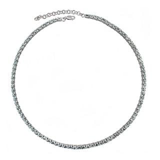 Fine Sky Blue Topaz Necklace in Sterling Silver