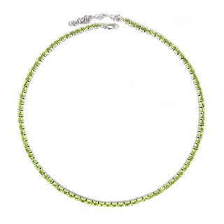Sterling Silver Oval-cut Peridot Necklace