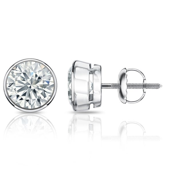 bezel fascinating stud round earring diamonds set earrings diamond