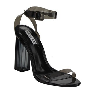 Cape Robbin FG05 Women's PVC Strappy Clear Lucite Block Chunky-heel Sandals